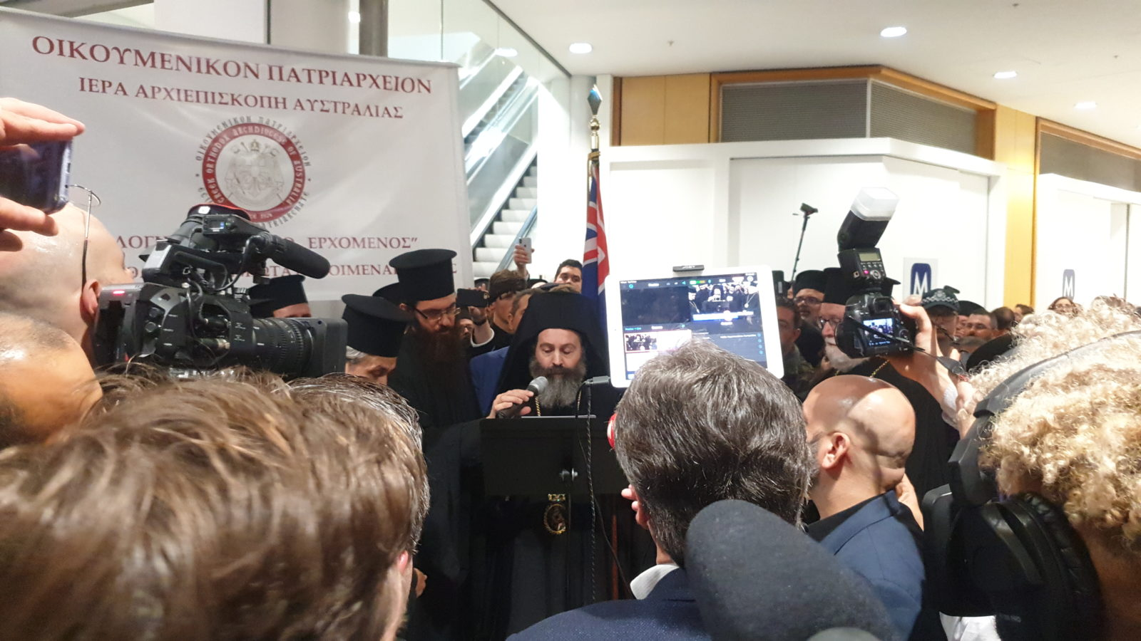 I Belong To Australia': Greeks Welcome Archbishop Makarios