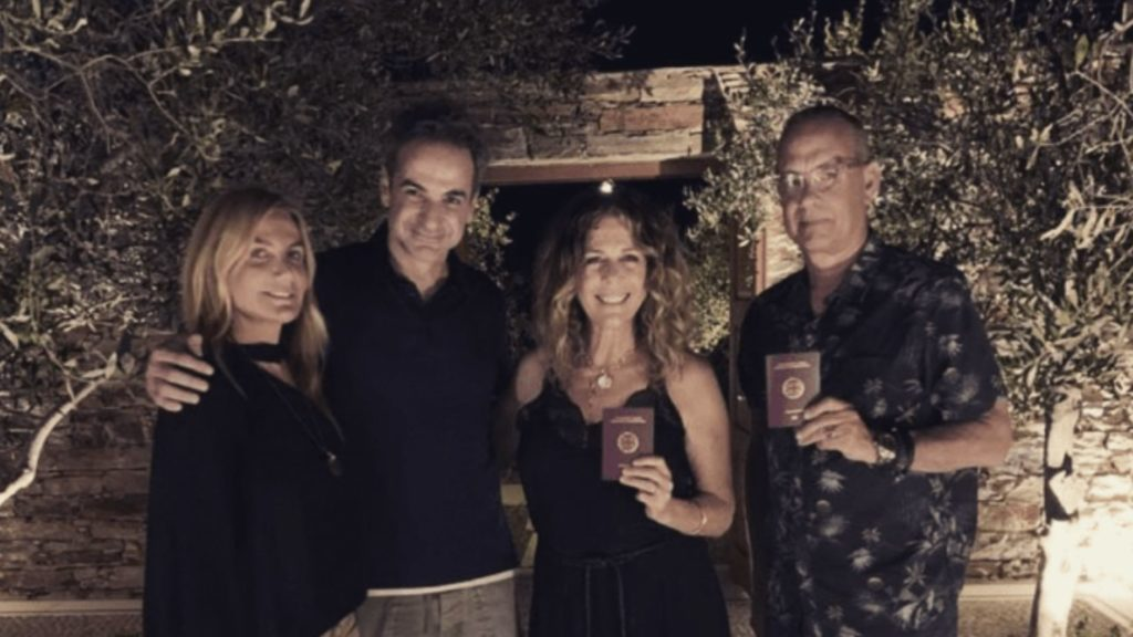 Tom Hanks and Rita Wilson show off their Greek passports